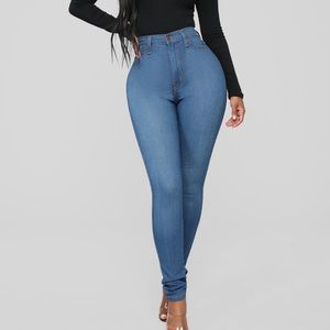 Classic High Waisted Skinny Jeans